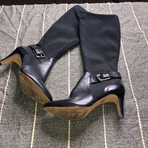 Antonio Melani Black Heeled Boots Size 7M
